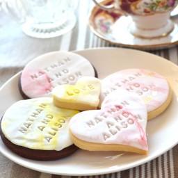 Fondant Wedding Cookies 2