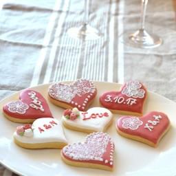 Wedding Cookies Pink 4
