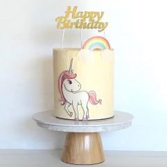 wafer card unicorn cake